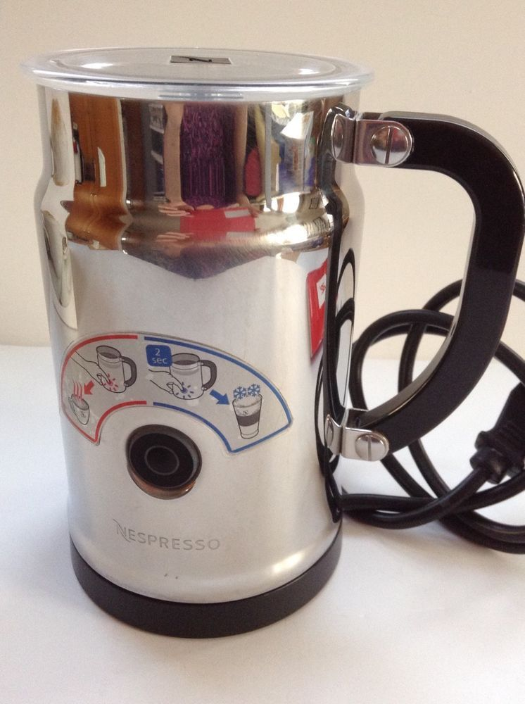 Nespresso Aeroccino Plus Stainless Hot Milk Frother 3192us