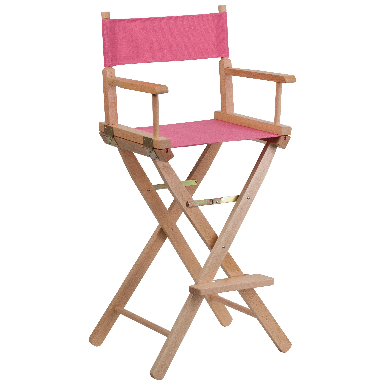 Attractive Flash Furniture Bar Height Folding Directors Chair (Black)