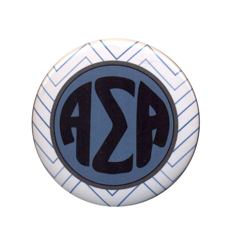 Alpha Sigma Alpha Chevron Monogram Button From Greekgear Alpha