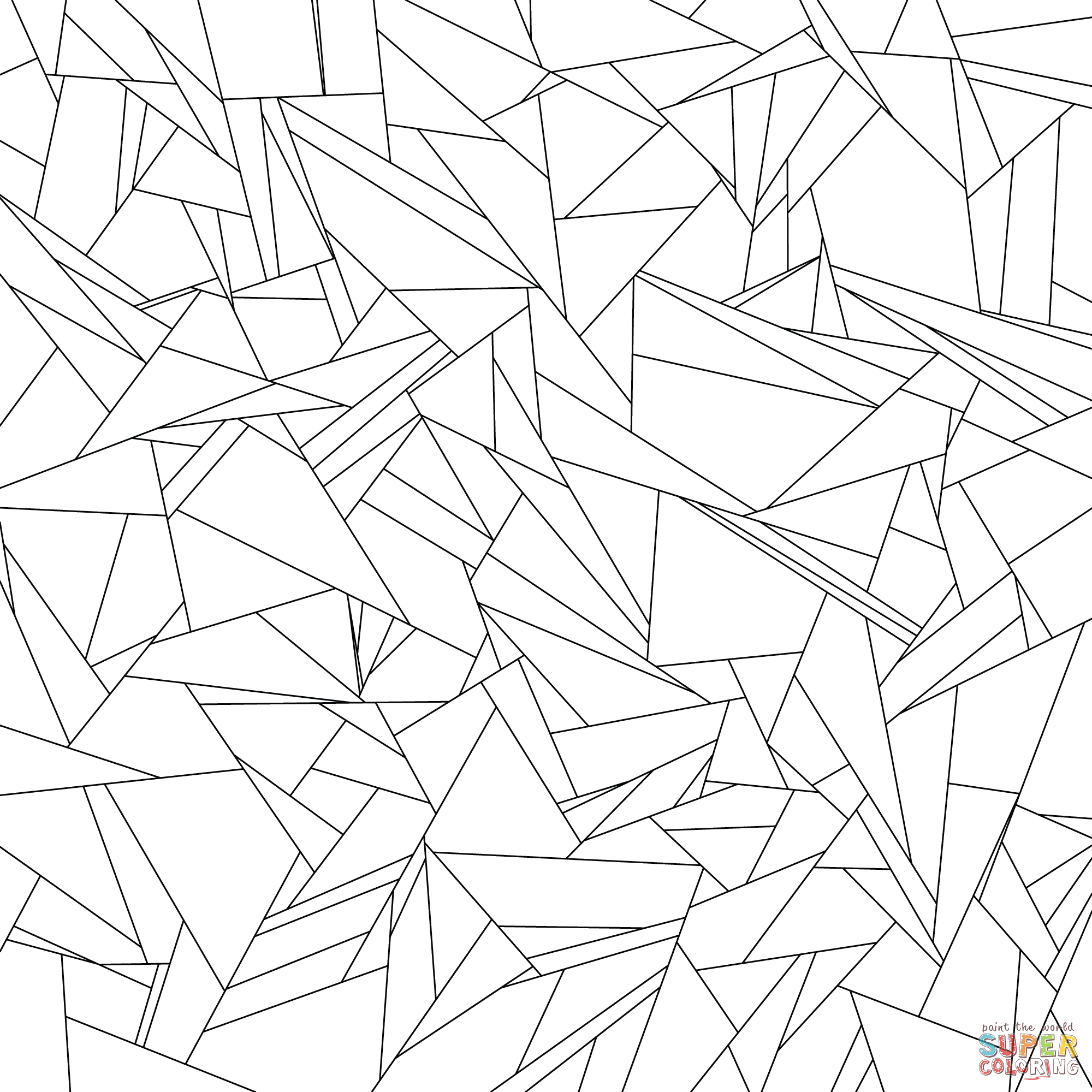 Gilbert Tessellation coloring page from Tessellations