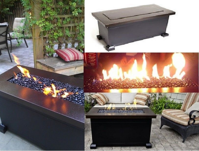 New Outdoor Fire Pit Heater Propane Gas Fireplace Patio Coffee Table  Furniture | EBay