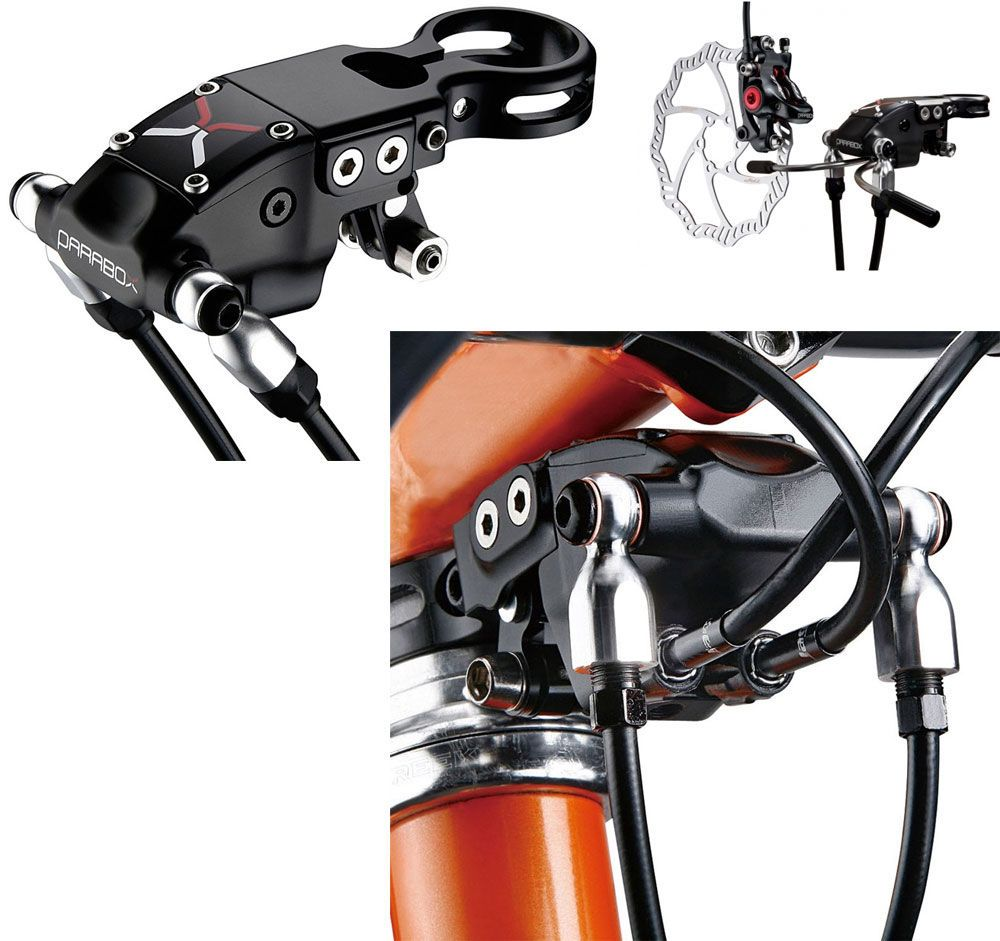 TRP Parabox mechanical to hydraulic brake converter. This
