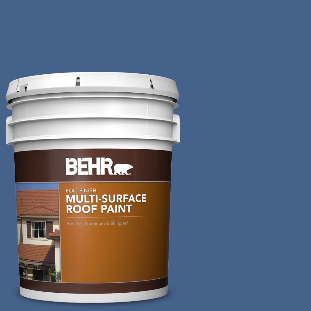 Best Behr 5 Gal Ppu15 04 Mosaic Blue Flat Multi Surface 640 x 480