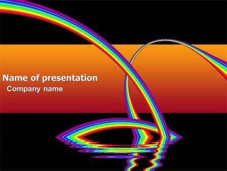 wwwpptstar/powerpoint/template/rainbow-on-a-black-orange - rainbow powerpoint