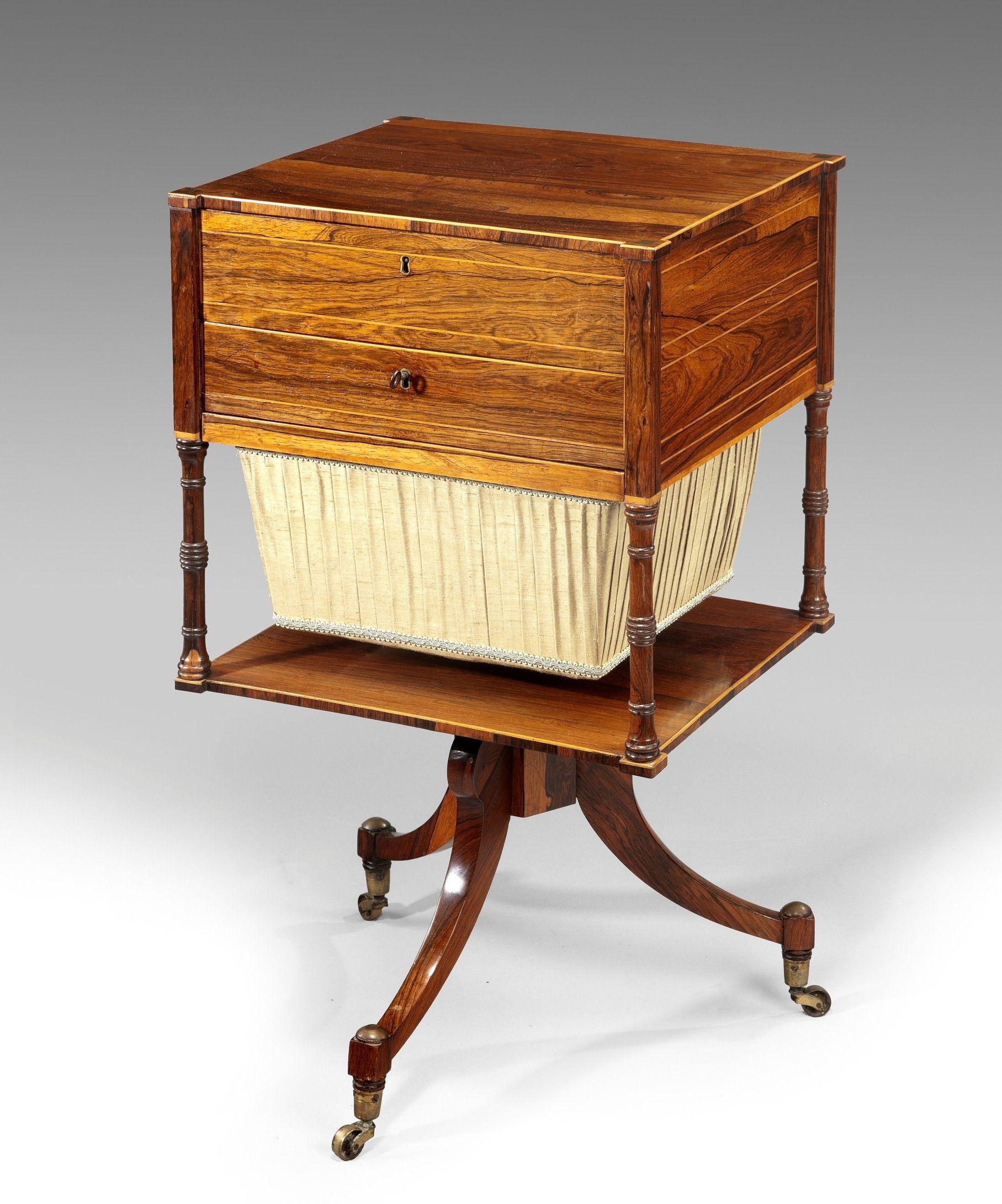 English Antique Georgian Furniture Reindeer Antiques Mobilier De Salon Boite A Ouvrage Meuble