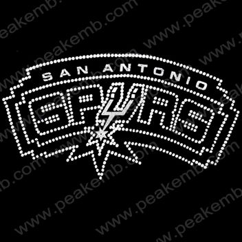 info for abb76 fca8e Hot Sale San Antonio Spurs Rhinestone T shirt Transfers ...