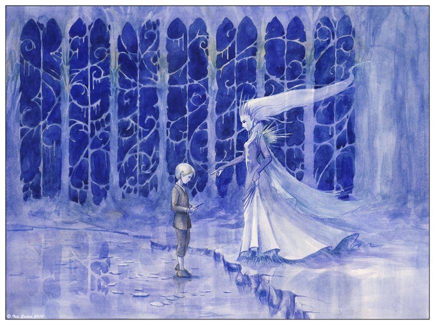 снежная королева в сюжетных картинках украсить дачный