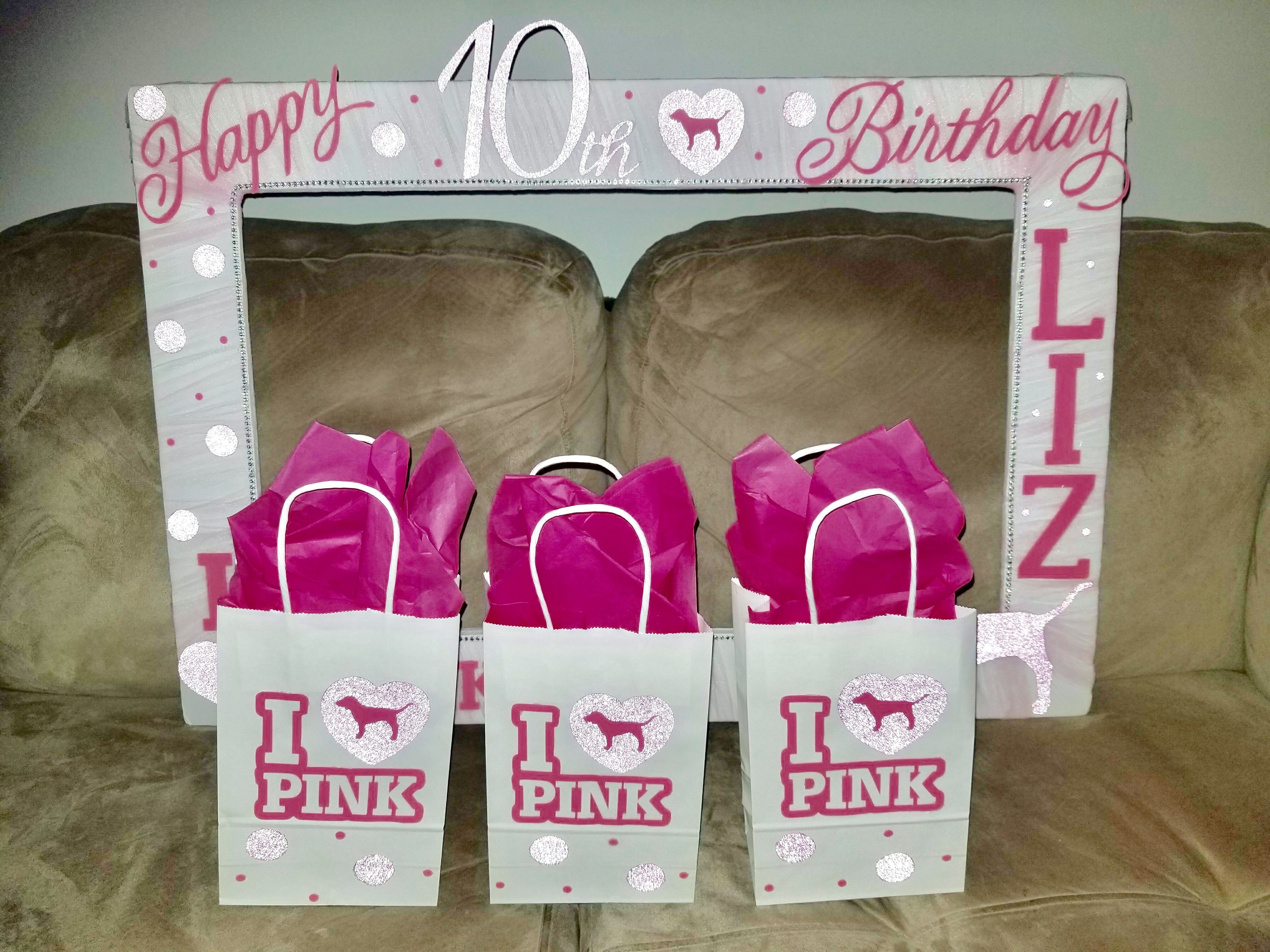 Victorias Secret PINK Selfie Photo Booth Frame Gift Bags