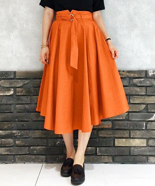 【ZOZOTOWN】PAGEBOY(ページボーイ)のスカート「Dカン共布ベルト付フレアスカート」(960219)をセール価格で購入できます。