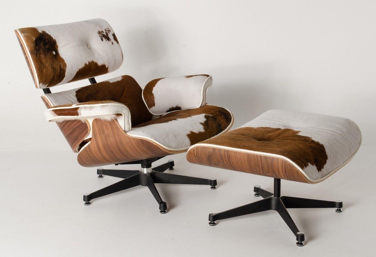Cowhide Eames Lounge Chair Eames Lounge Chair Lounge Chair Chair And Ottoman