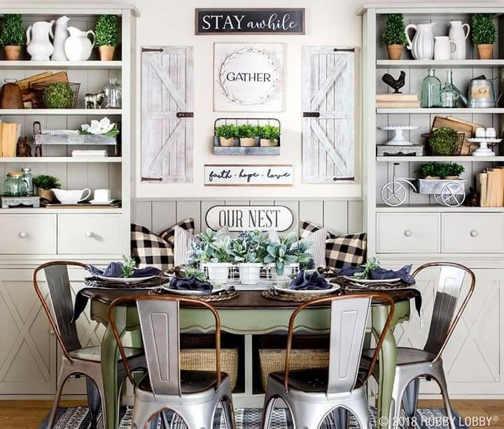 hobby lobby dinner area farm style in 2019 farmhouse decor living room decor cozy cottage on kitchen decor themes hobby lobby id=91658
