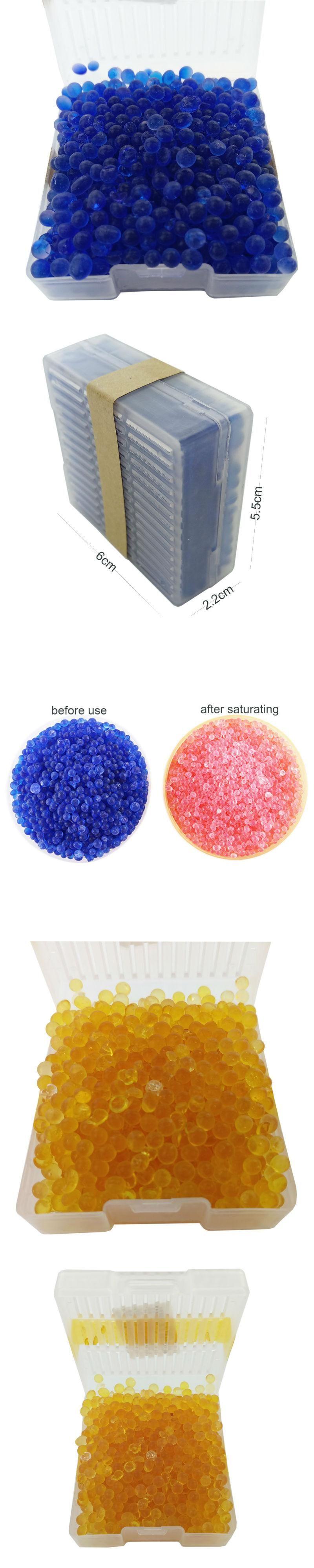 Orange Blue Silica Gel 60gincl Box Moisture Absorber Reusable Gell Silicagel Absorbent Desiccant