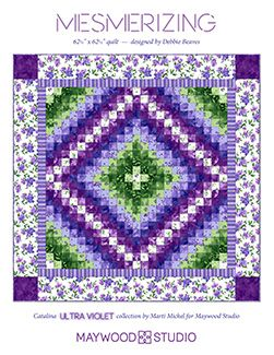 Mesmerizing quilt by Debbie Beaves using Catalina Ultra Violet ... : debbie beaves quilt patterns - Adamdwight.com