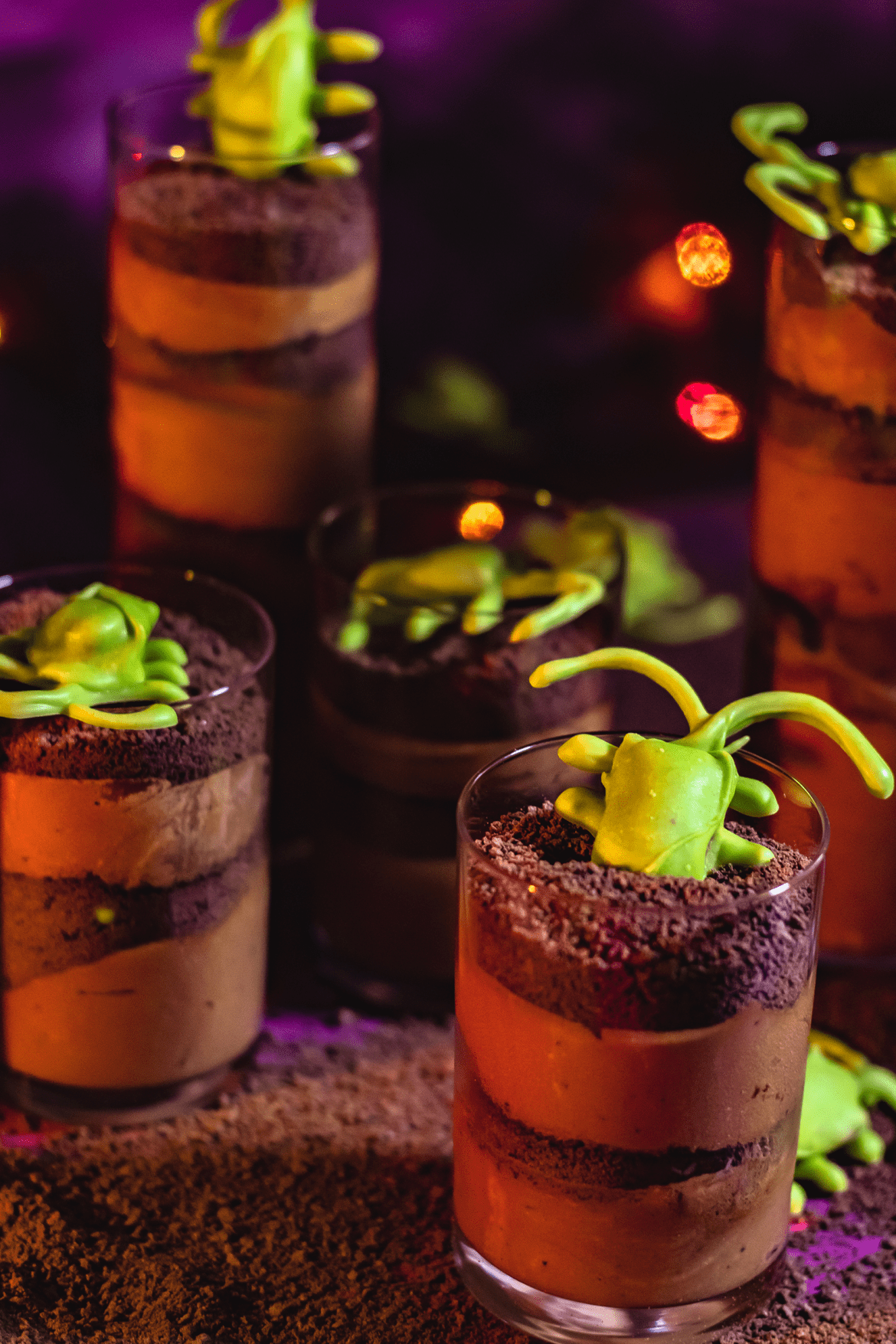 Halloween Radioactive Dirt Cups | Recipe | Food and ...