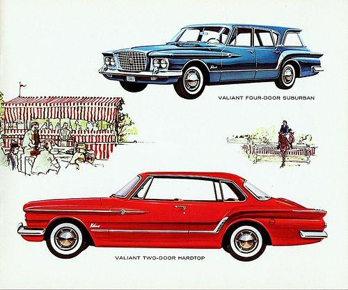 Chrysler 200 Convertible Hardtop: 1961 Valiant V200 2-Door Hardtop & 4-Door Suburban (Canada