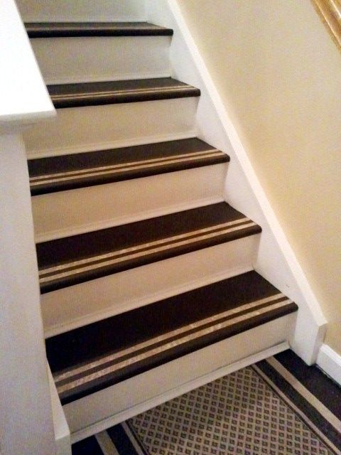 Best Painted Stairs Maybe Painters Tape Over Bare Wood When 400 x 300
