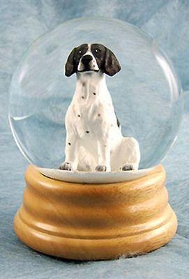 Pointer Dog Musical Water Snow Globe Black - You've Got a Friend Tune $99.99 at DogLoverStore.com
