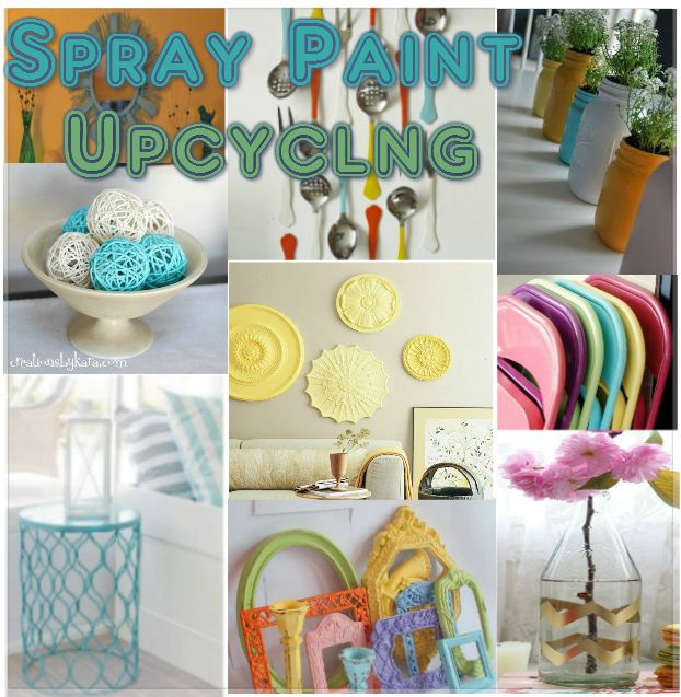 Cute Spray Painted Household Items