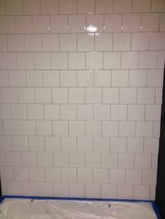 6x6 White Tile Backsplash And Wall