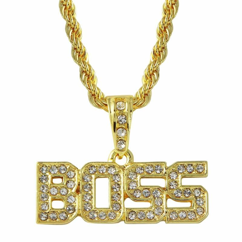 2a1c93c288c25 Capital Letters Boss Pendant in 2019 | Gold Plated Necklace | Gold ...