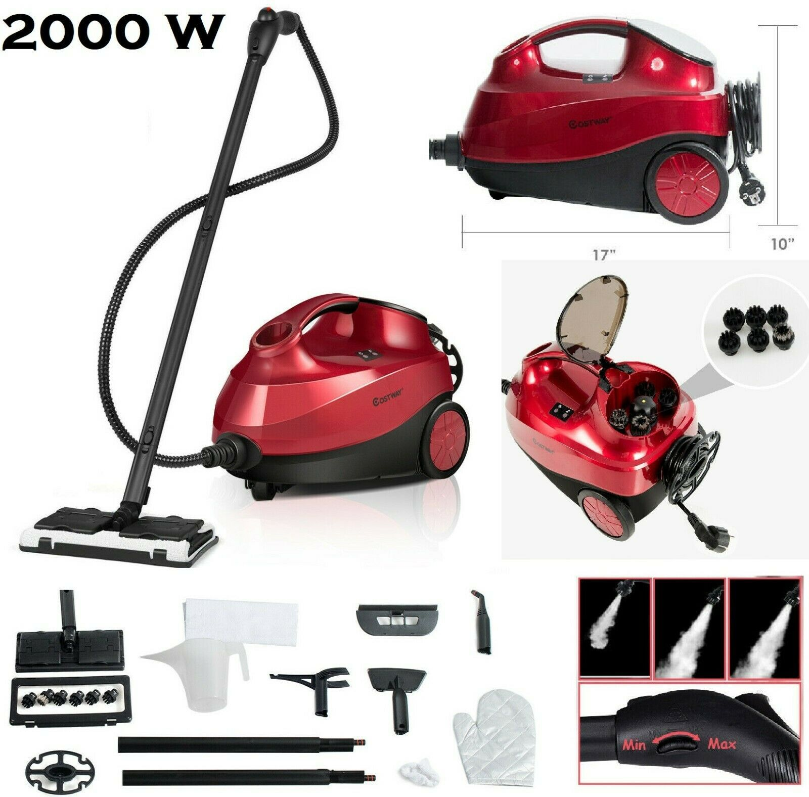 Steam Cleaner Heavy Duty Carpet Cleaner Mop Multi Purpose Cleaning Home 2000w In 2020 Steam Cleaners Carpet Cleaners Cleaners