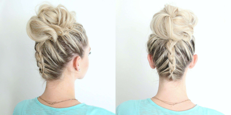 Hairstyles With Dutch Braids: Dutch Braid Twist Bun Combo