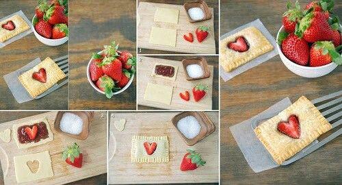 Blätterteig+ Marmelade+ Erdbeeren