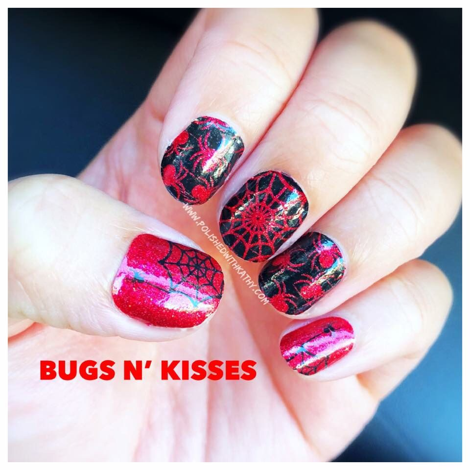 get your bugs n kisses halloween manicure from color street! a quick