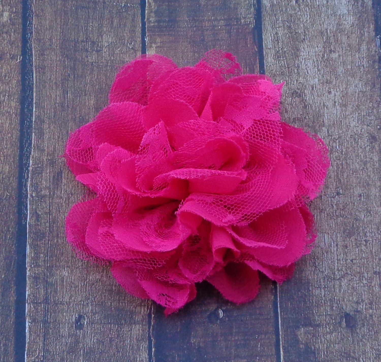 Chiffon Lace Hair Flowerslace Hair Flowerslarge Hair Flower Bow