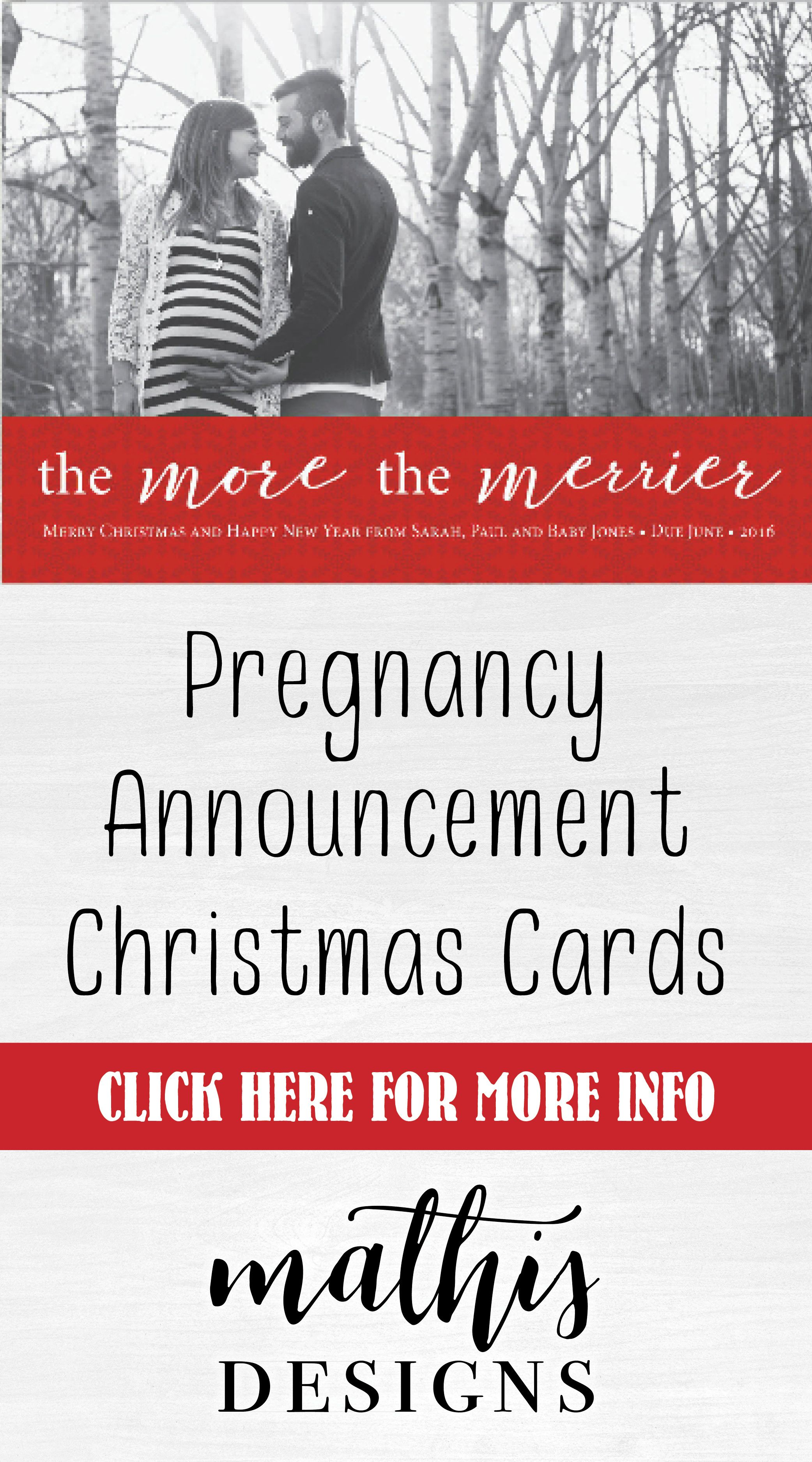 Christmas baby announcement card with photo, baby announcement card ...