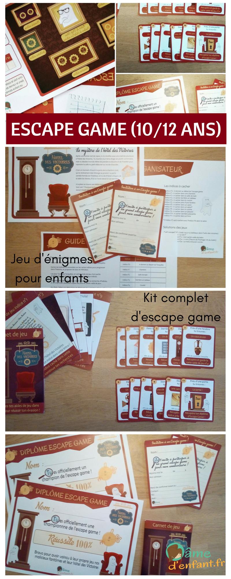 Escape Game Pour Enfant Le Mystere De L Hotel Des