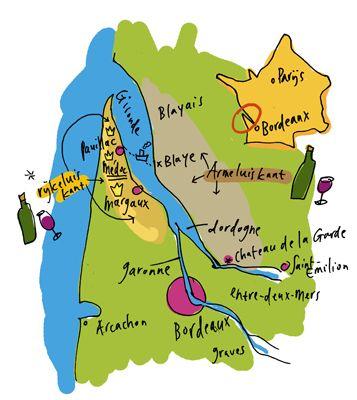 Map Chateau de la Garde, Bordeaux.