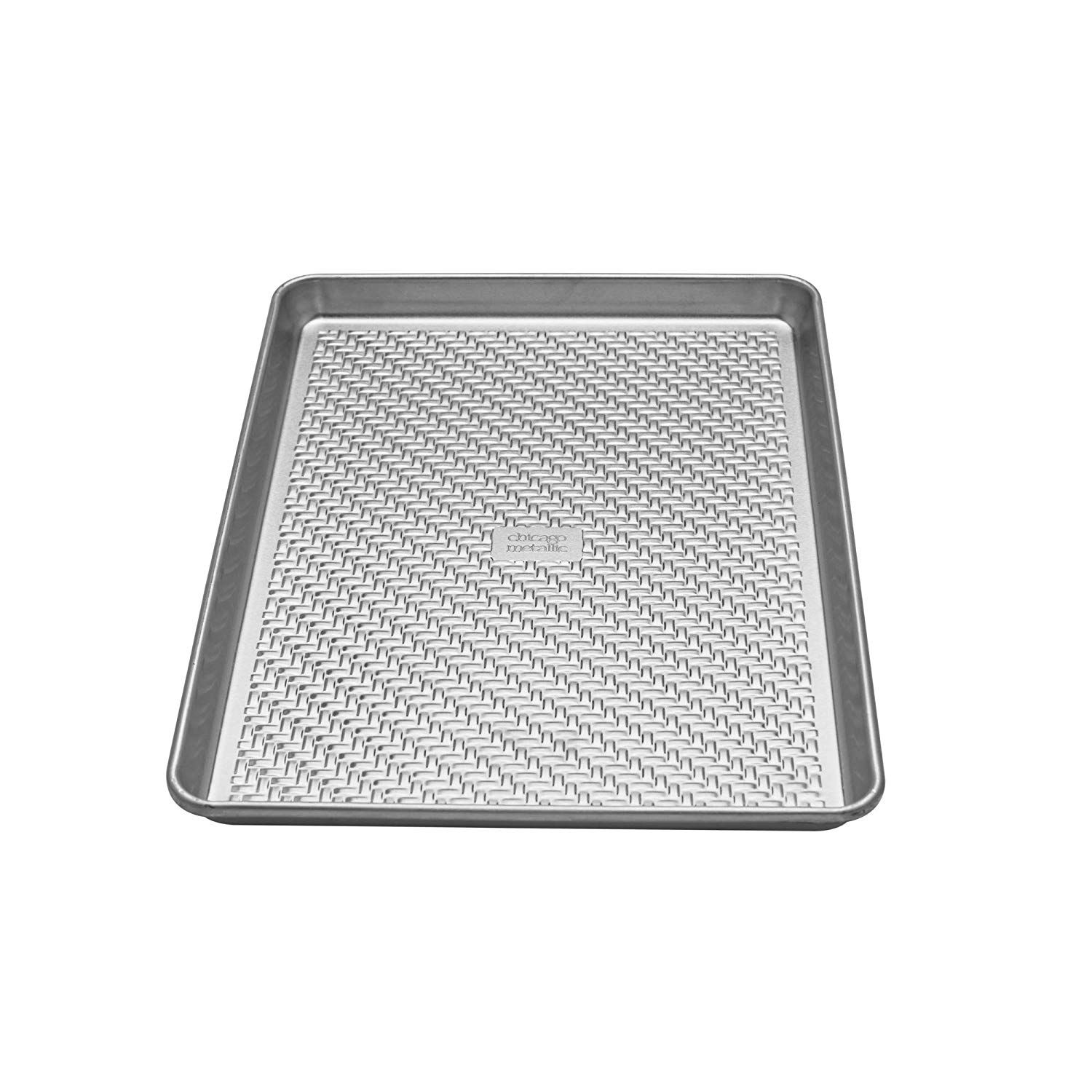 Chicago Metallic 5237968 Uncoated Textured Aluminum Medium Cookie Baking Sheet 10 Inch By 15 Inch Silver Chicago Metallic Aluminum Bakeware Cake Baking Pans