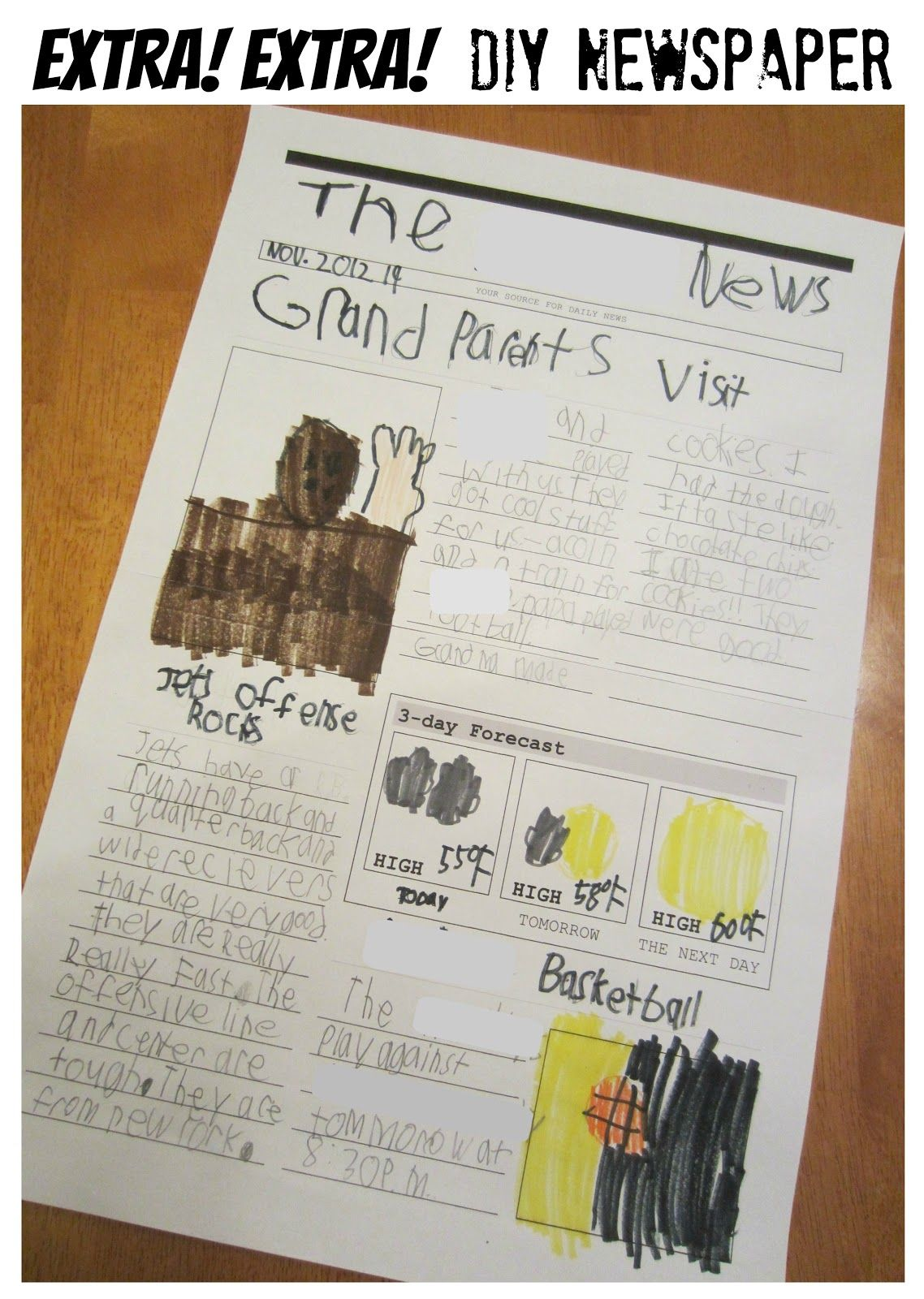 Free Printable Newspaper Template To Encourage Kids Writing And