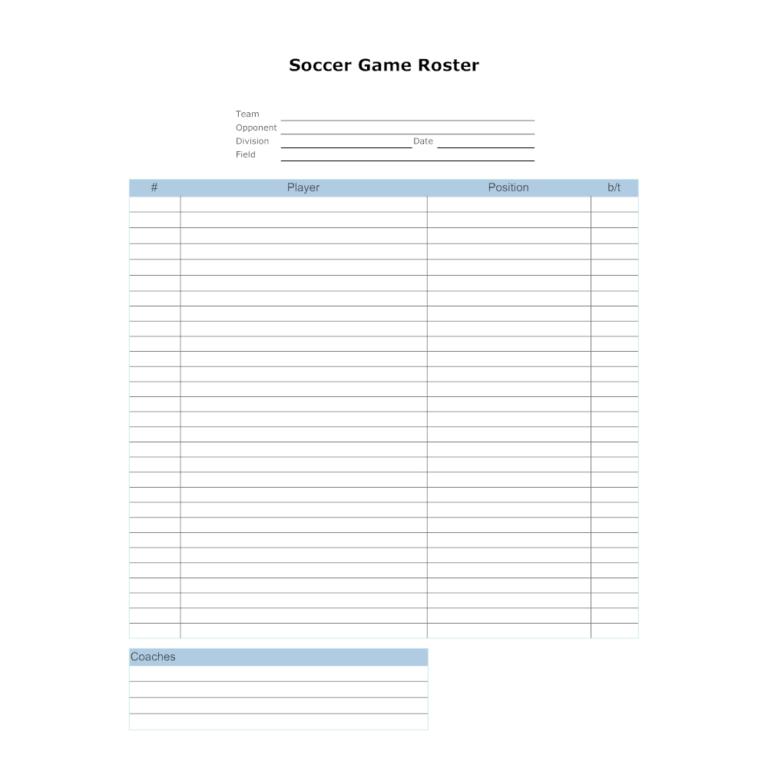 Soccer Lineup Templates Karan Ald2014 In Blank Football Depth Chart Template Report Card Template Depth Chart Professional Templates