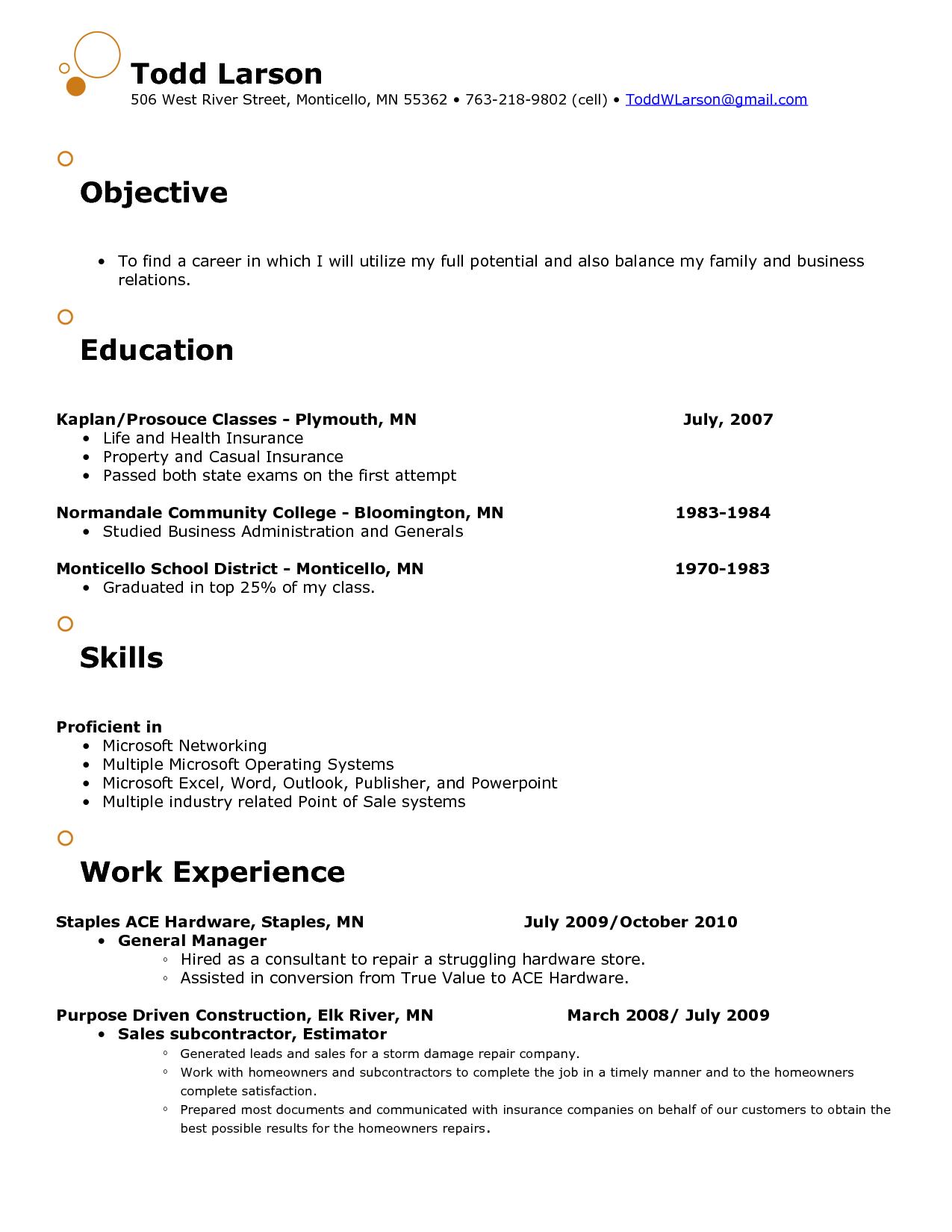 21 Free Sample Resume Objective Sample Resumes Resume