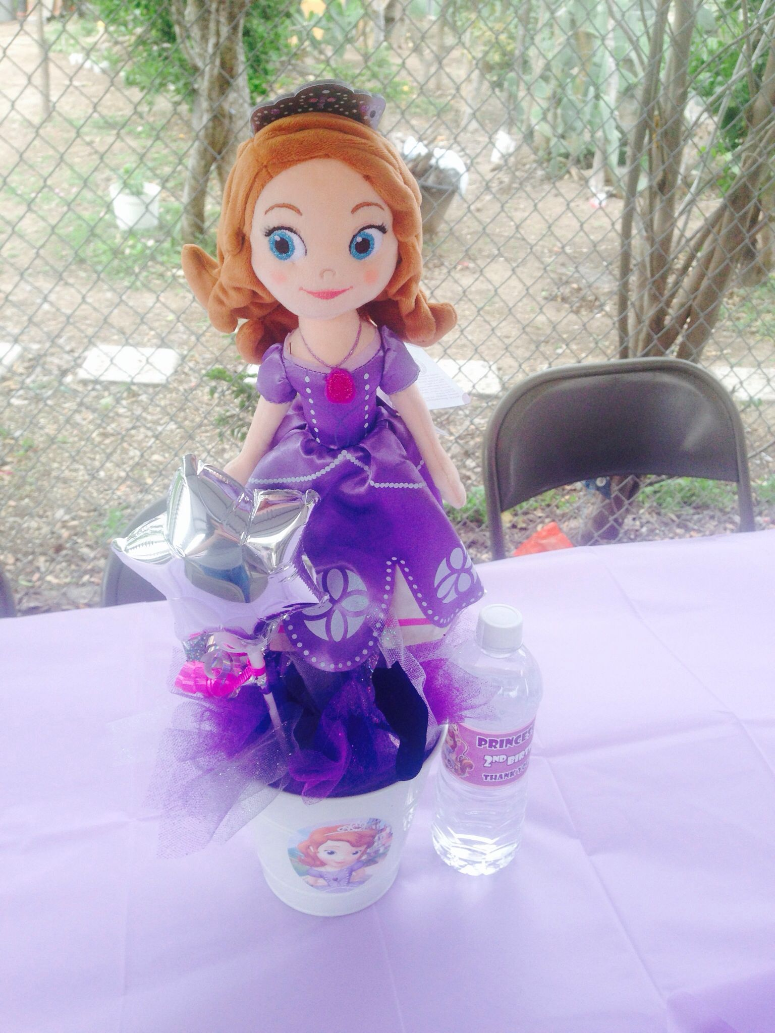 Sophia centerpiece | Sofia the first party, Kids party ...