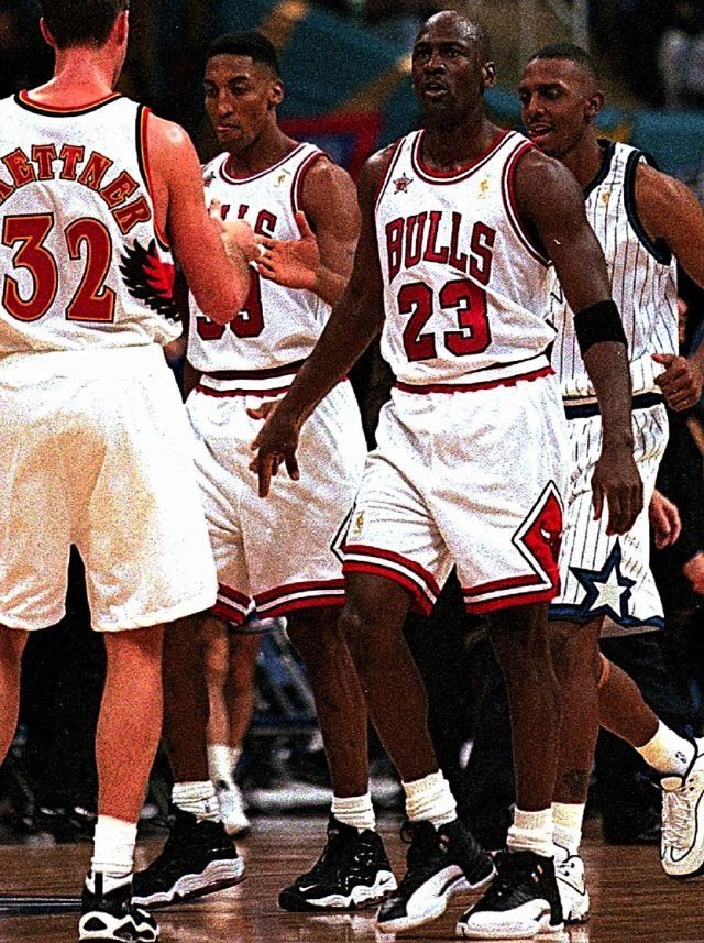 Michael Jordan Chicago Bulls Christian Laettner Atlanta Hawks Scottie Pippen Anfernee Penny Hardaway Orlando Magic