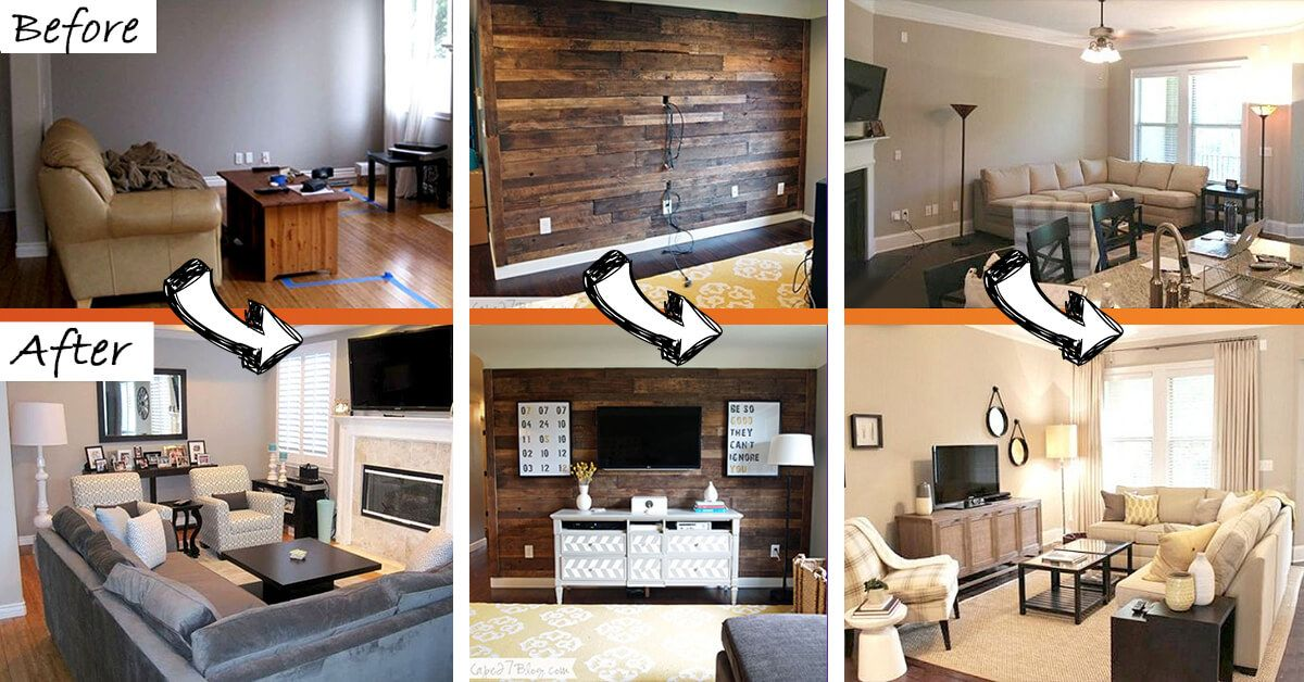 Budget Friendly Living Room Makeover Ideas Give You Several Different Examples Of How To Rewor Living Room Makeover Dining Room Remodel Living Room On A Budget