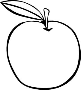 Apple Coloring Fruit Clip Art Apple Coloring Pages Fruit Coloring Pages Apple Coloring