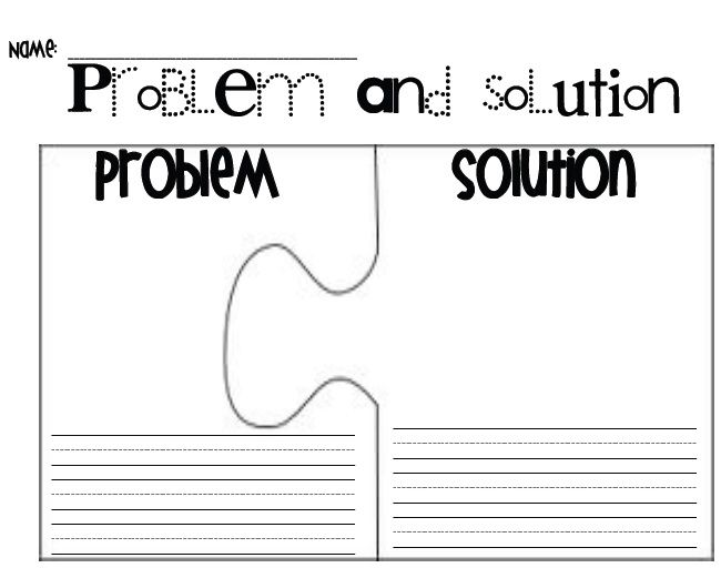Problem and solution puzzle pieces Techniques for children – Problem and Solution Worksheets