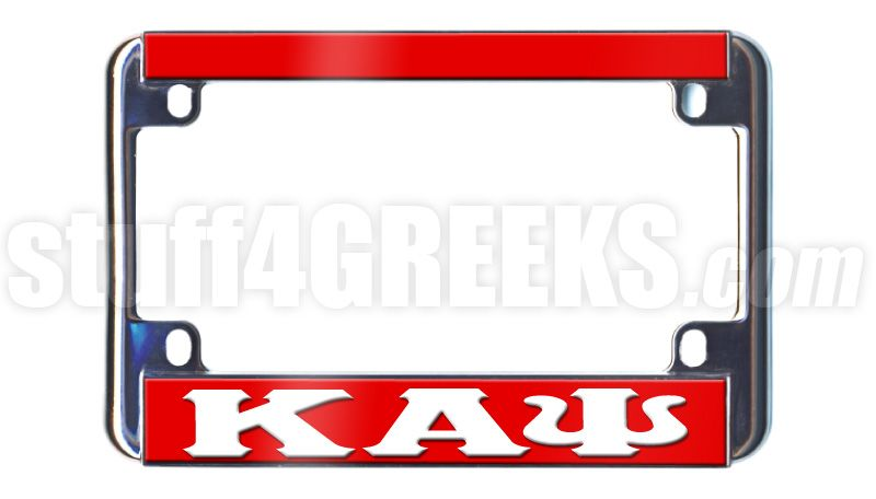 This Kappa Alpha Psi Motorcycle Tag Frames All Standard License