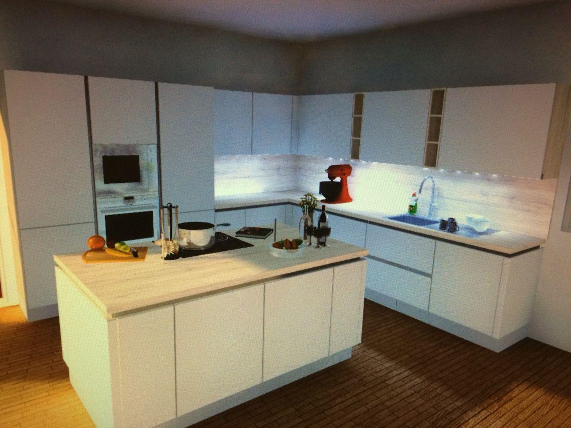 cuisine moderne aspect blanc mat avec un mlange de bois nobilia but cuisine urban