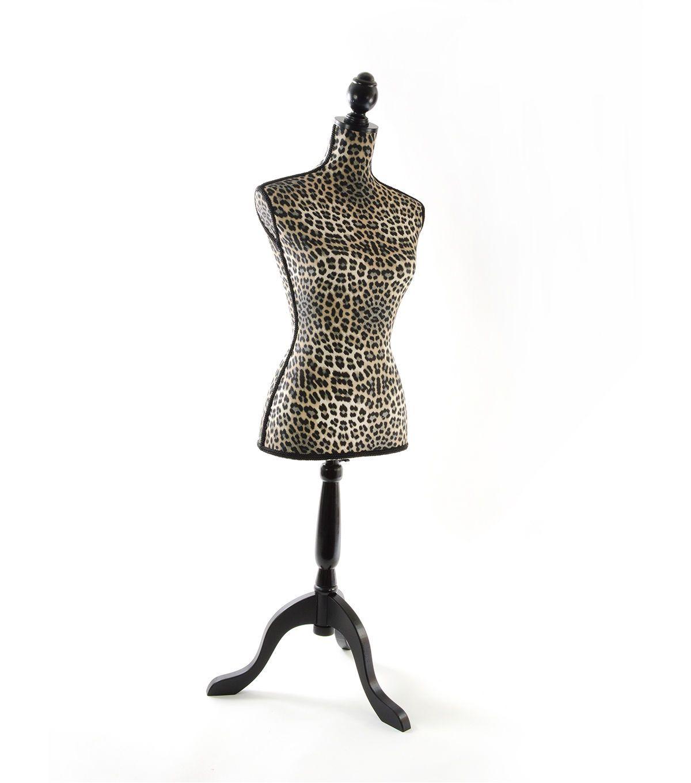 Decorative Linen Dressform Animal Print Adjustable