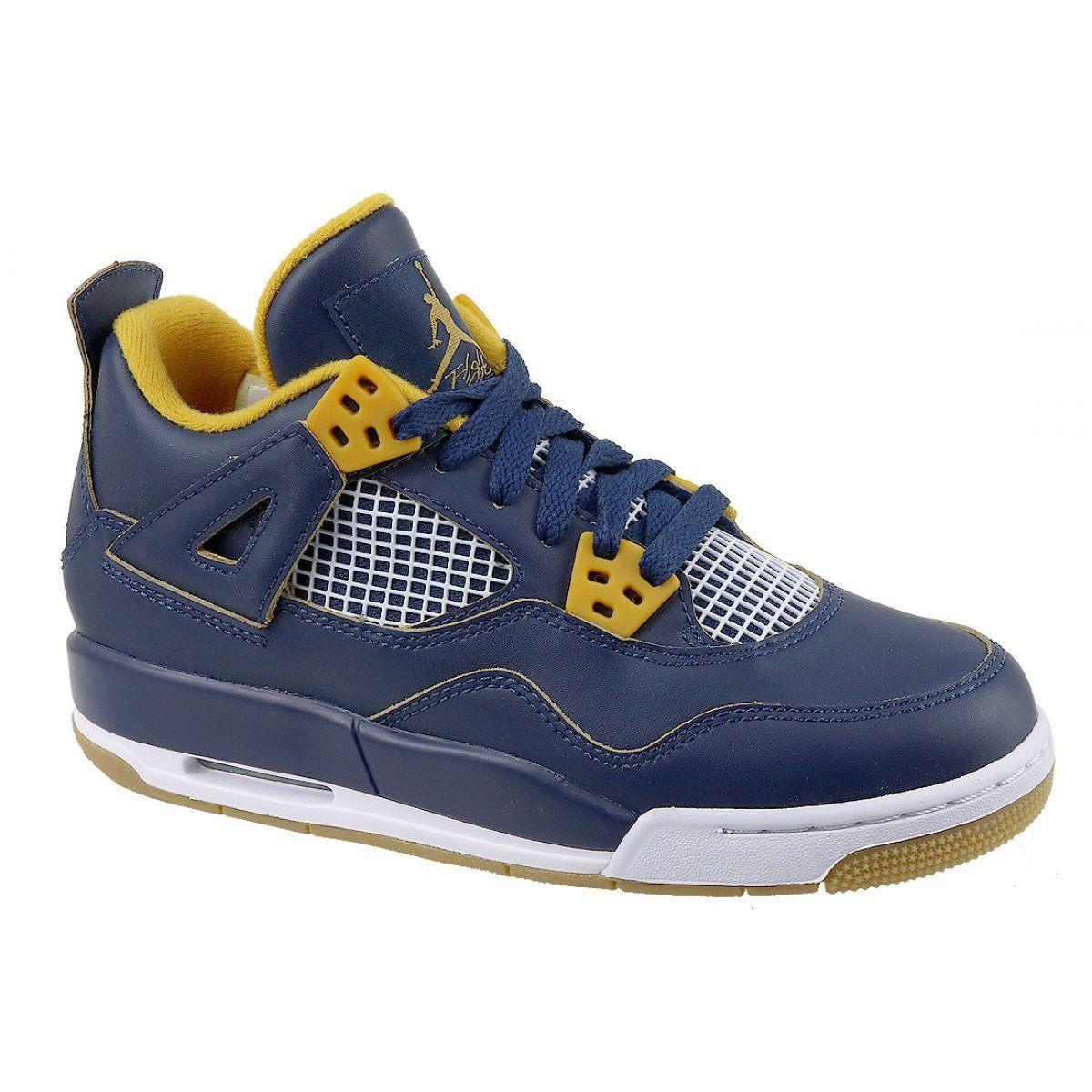 Nike Jordan Buty Jordan 4 Retro Bg Jr 408452 425 Granatowe Jordan 4 Nike Shoes Kid Shoes