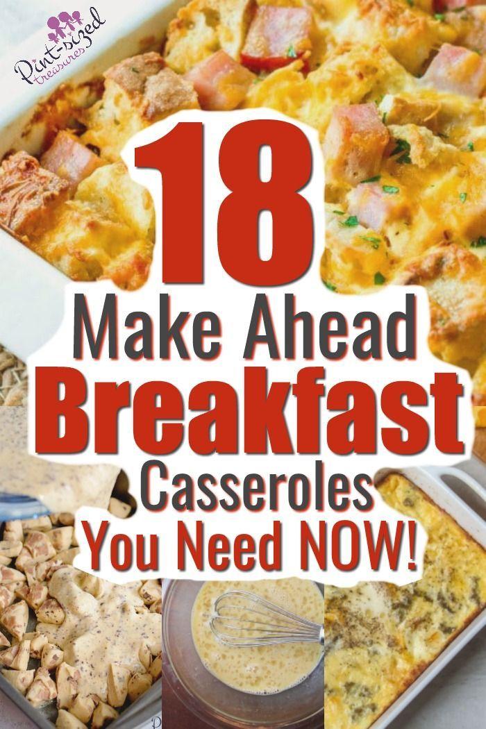 The BEST 18 Make Ahead Breakfast Casseroles · Pint-sized Treasures