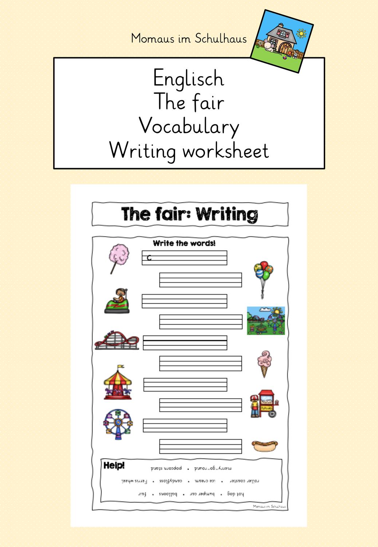 The Fair Worksheet Writing Unterrichtsmaterial Im Fach Englisch In 2020 Schreiben Arbeitsblatt Schreiben Unterrichtsmaterial