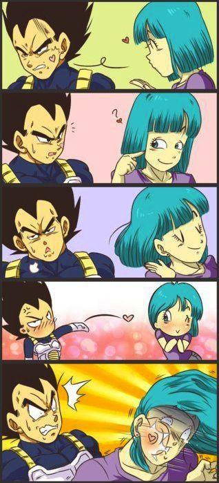 Vegeta and Bulma. Lol. This makes me laugh every time.