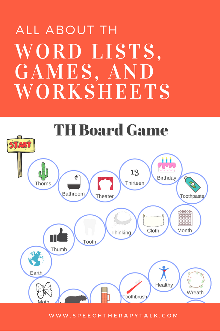 Th Word List For Speech Therapy Creating Communicators Slp