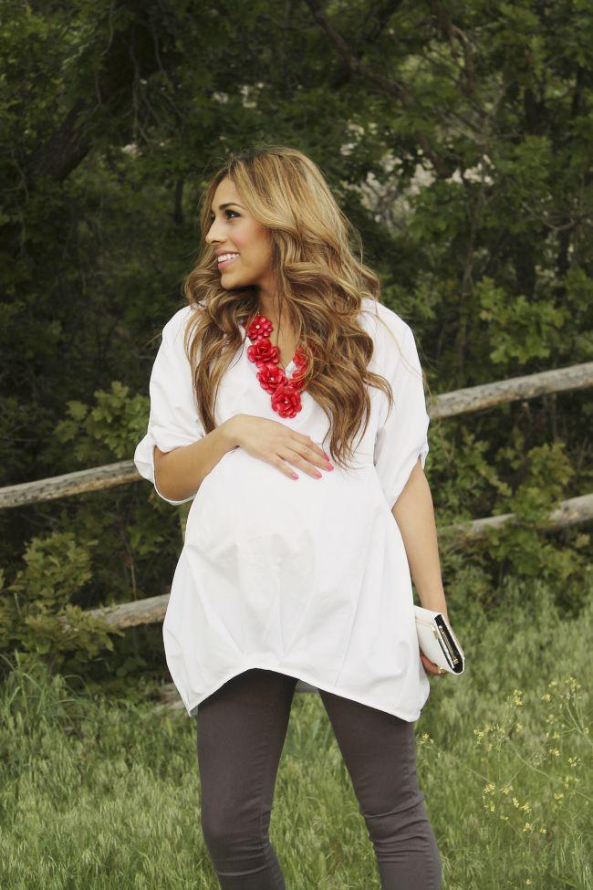 Pregnancy style: Boho-chic